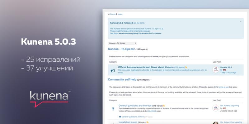 Компонент форума Kunena - версия 5.0.3