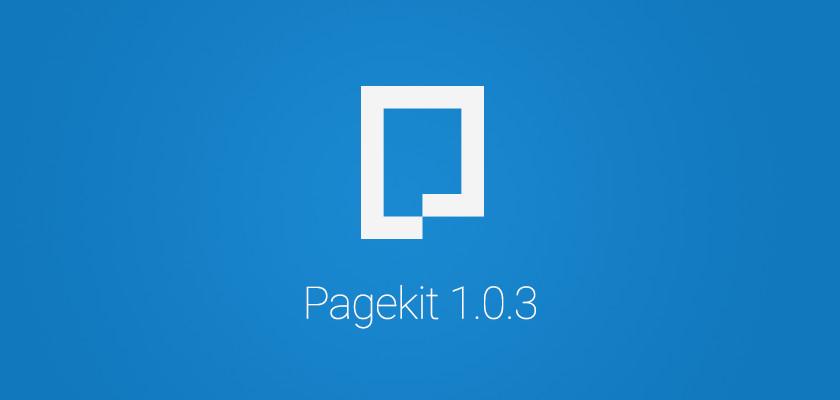 Вышел релиз Pagekit 1.0.3