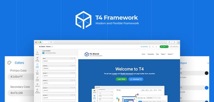 Joomlart выпустили превью версию T4 Framework